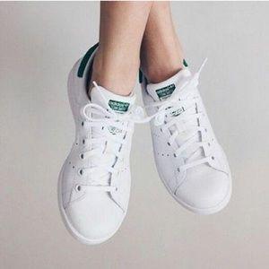 Adidas Originals White/Green Stan Smith Sneakers